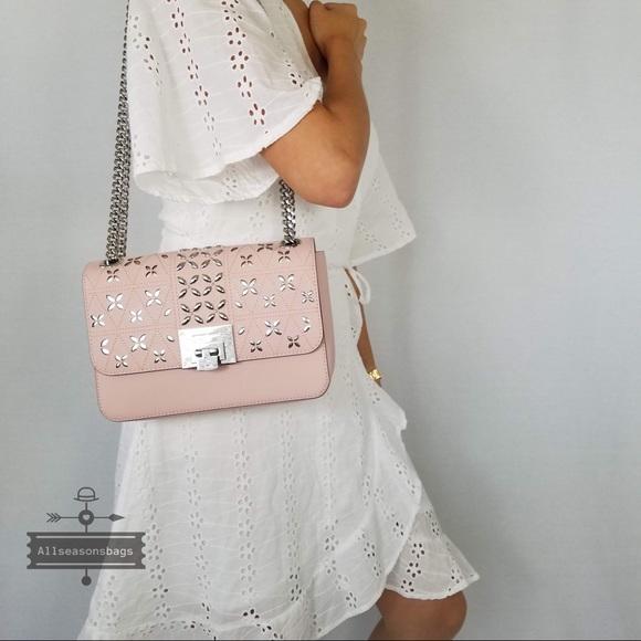 f54fe17290c968 Michael Kors Bags   Tina Shoulder Flap Bag Blossom Pink   Poshmark